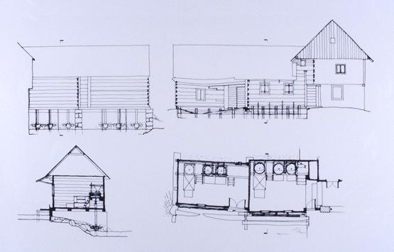 maisons traditionnelles plan Slunj