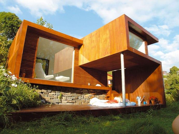 petite maison contemporaine en Norvège