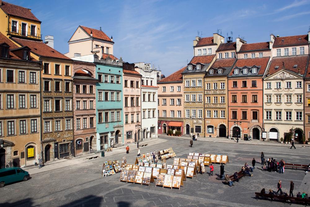 maisons vieille ville varsovie