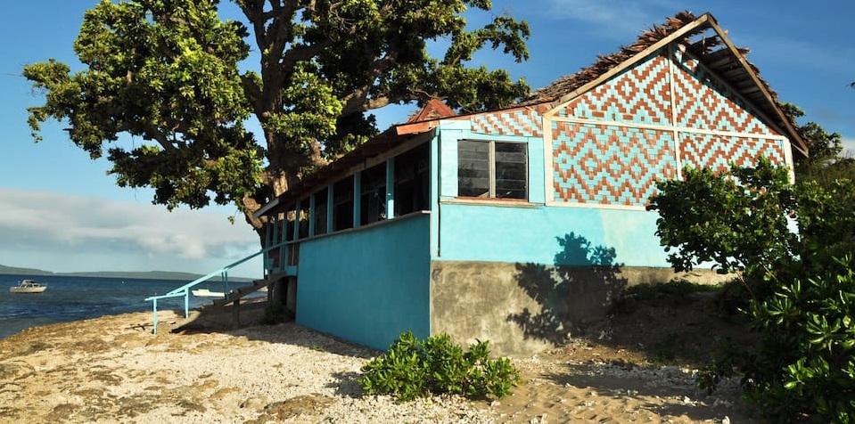 Maison colorée au Vanuatu
