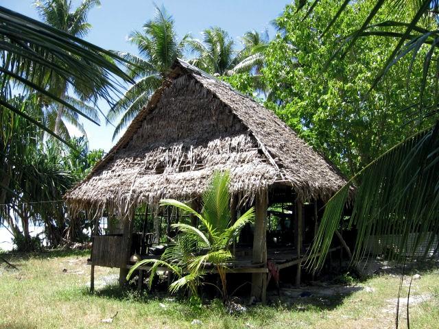 Maison traditionnelle des Tuvalu