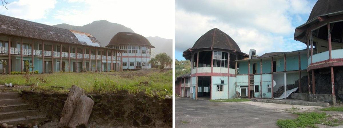 hôtel abandonné à Pago Pago
