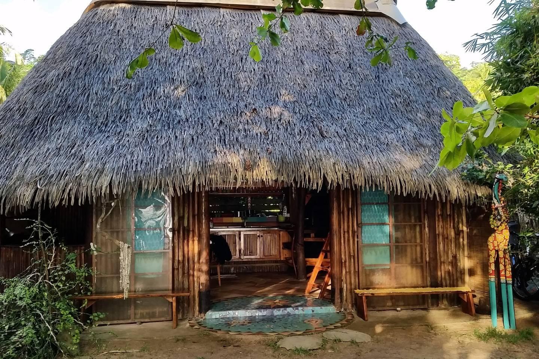 maison polynésienne de style traditionnel