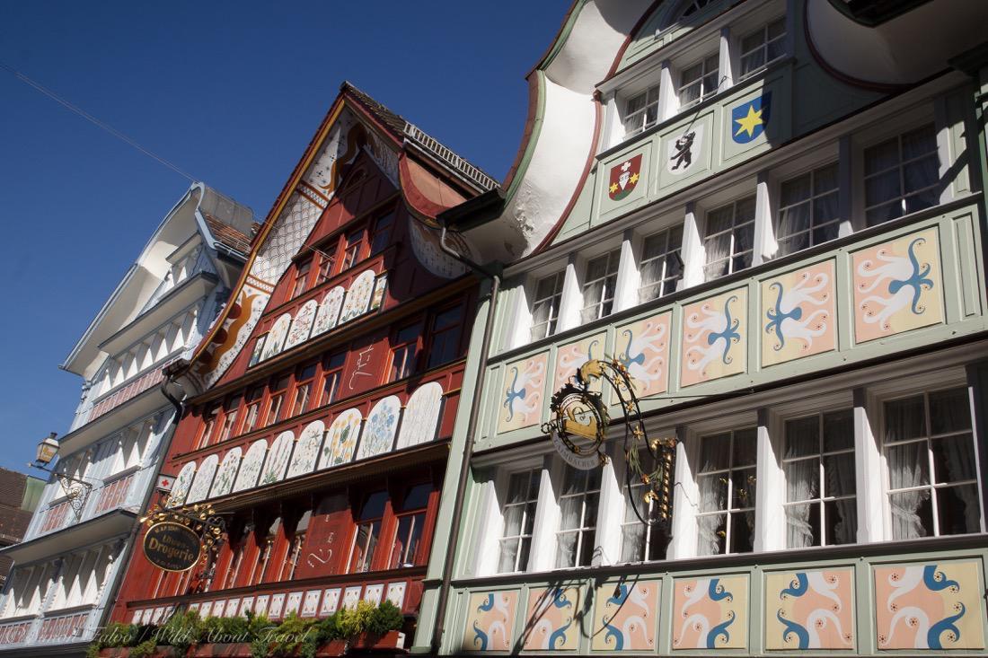 maisons colorées Appenzell