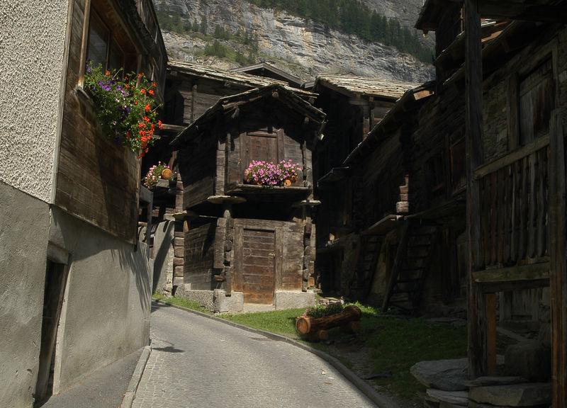 maisons traditionnelles vieux village Zermatt