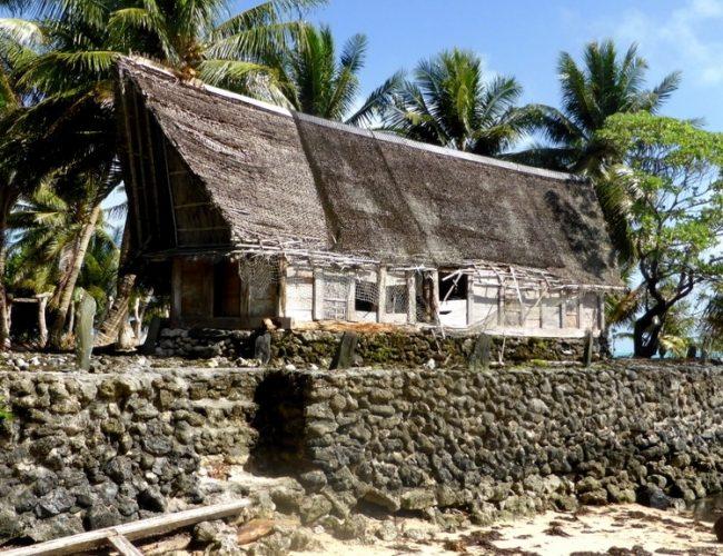 Maison traditionnelle micronésienne