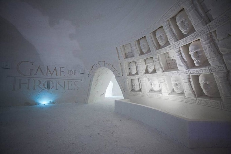 hôtel glace Game of Thrones
