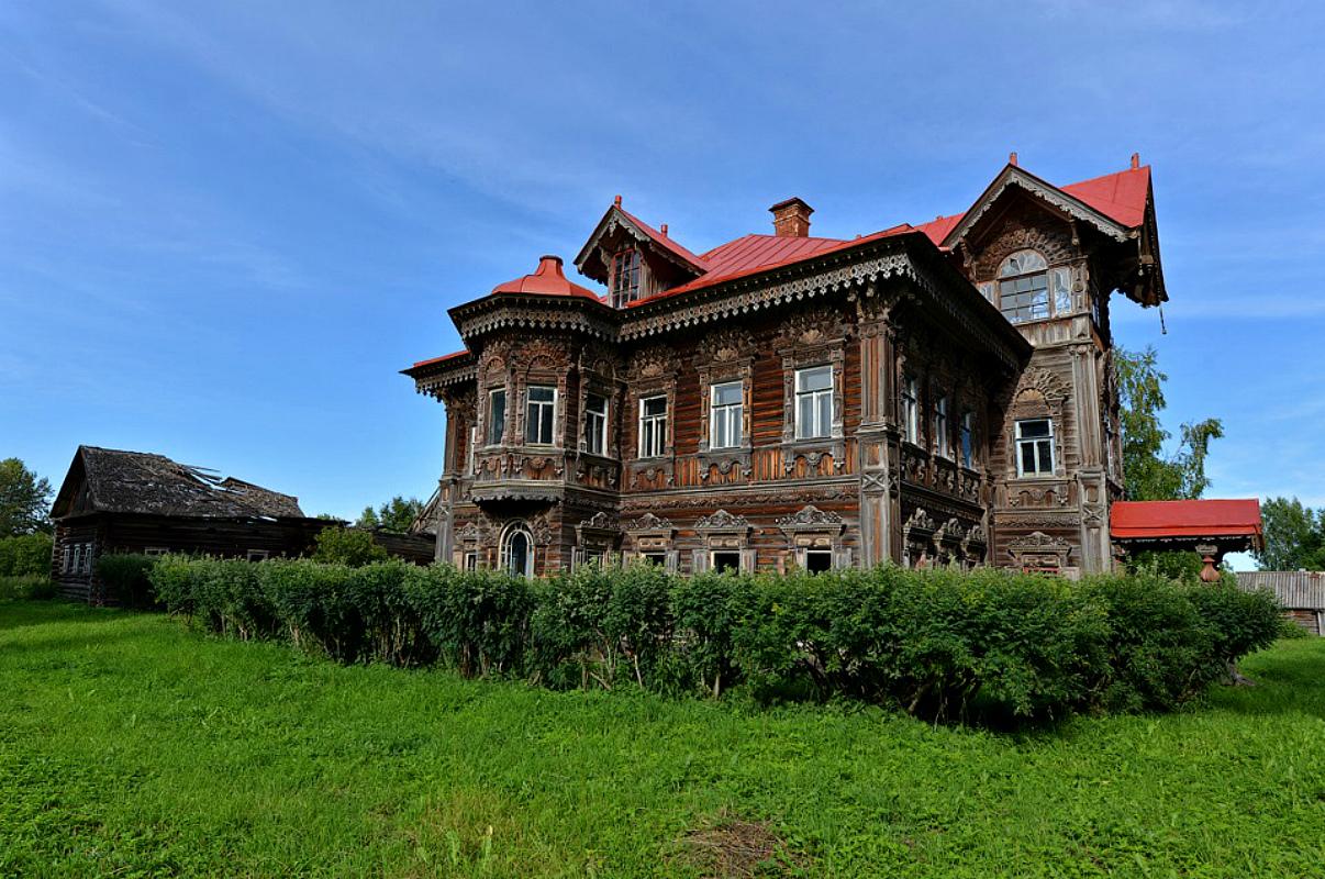 magnifique maison bois russie