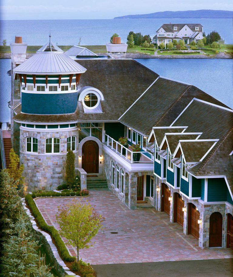 magnifique maison surplombant le lac Michigan