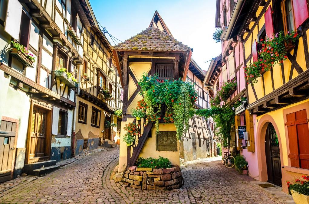 maisons à colombages à Eguisheim