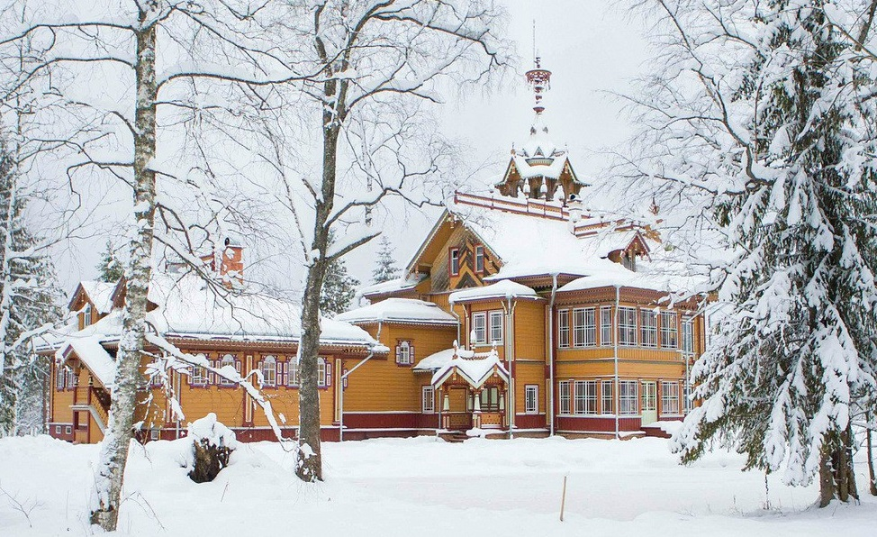 superbe maison campagne russie