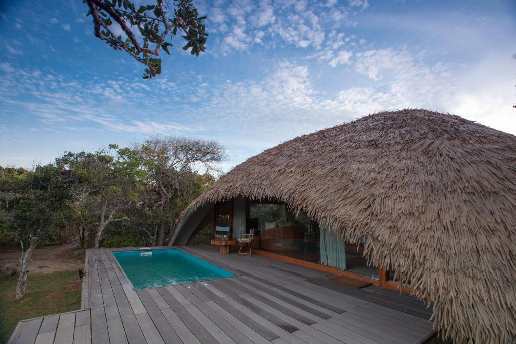 huttes au Sri Lanka