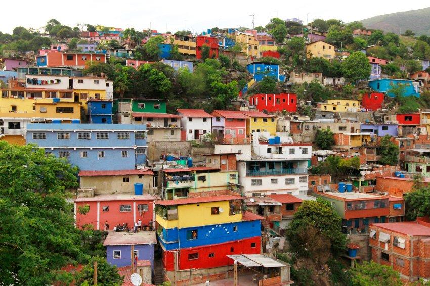 maisons colorées caracas