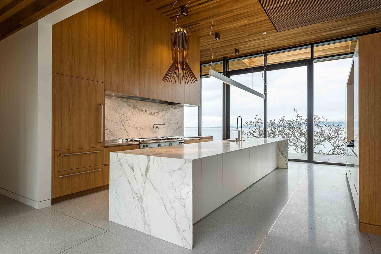 Des conceptions de cuisine de luxe moderne