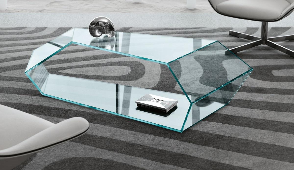 mobilier en verre sur mesure
