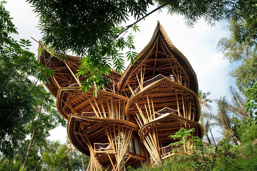 maison bambou bali