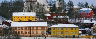 maisons colorées scandinavie