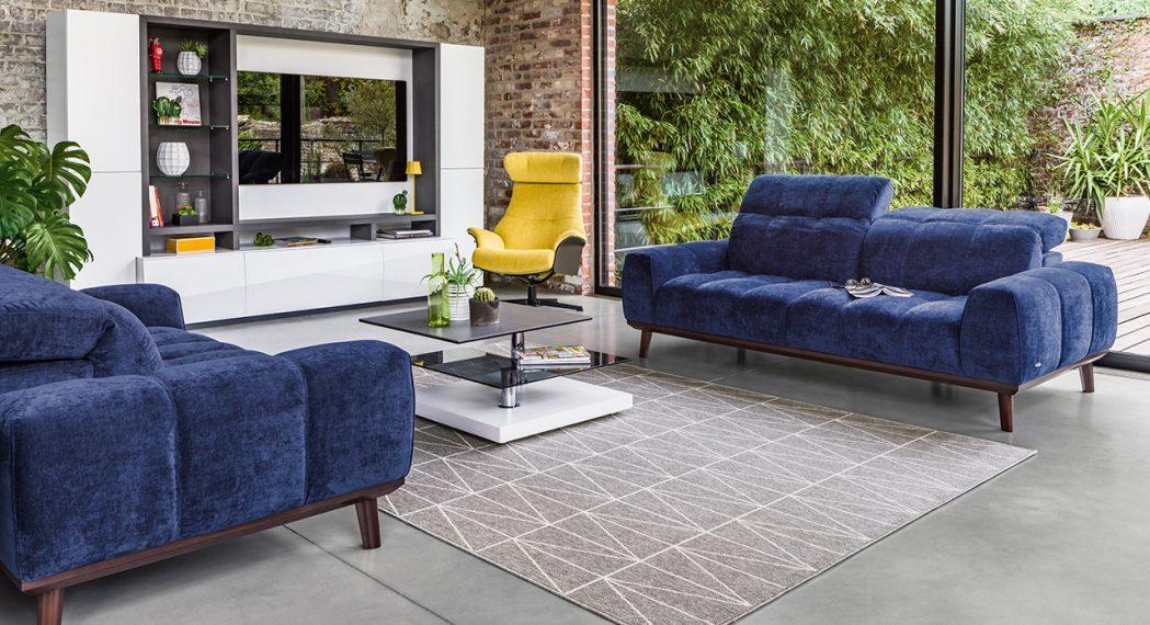 canapé bleu monsieur meuble