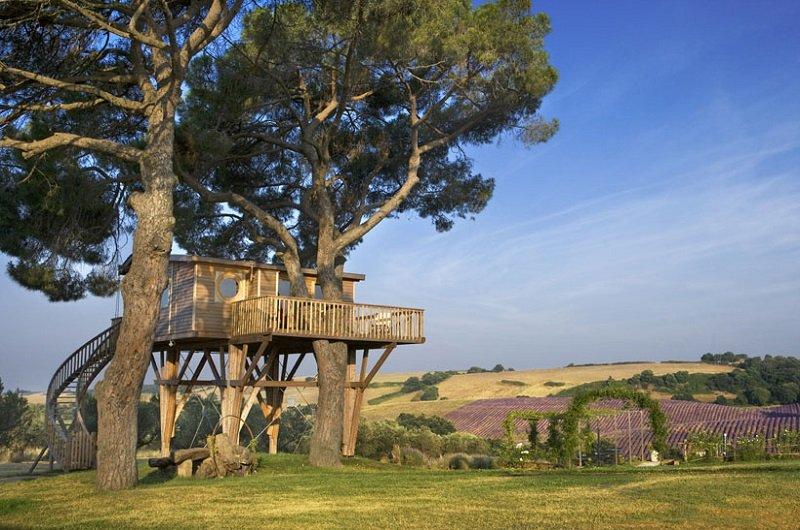 cabane dans les arbres italie
