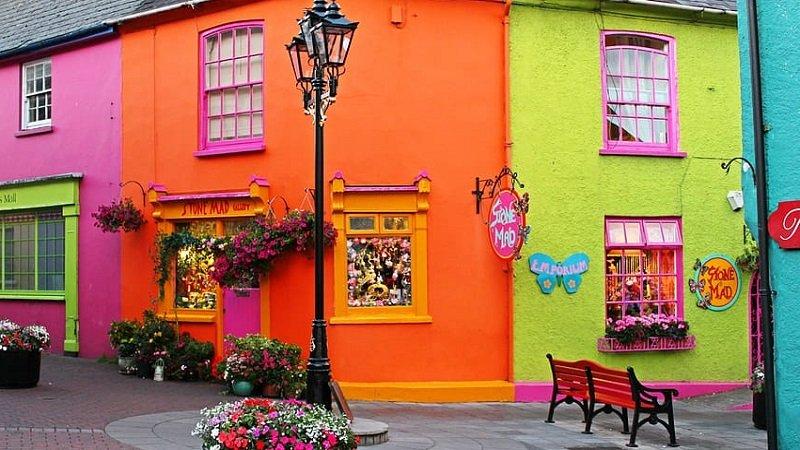 maison colorée irlande