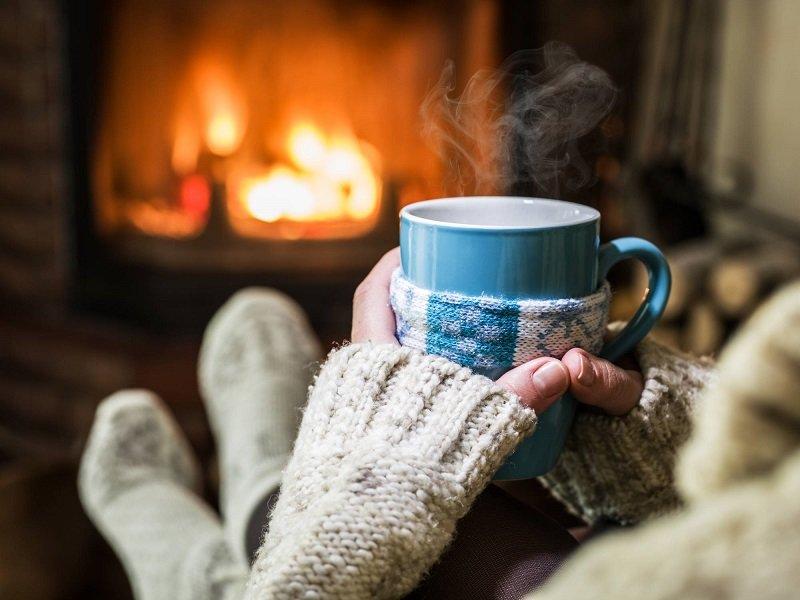 cheminée maison hiver