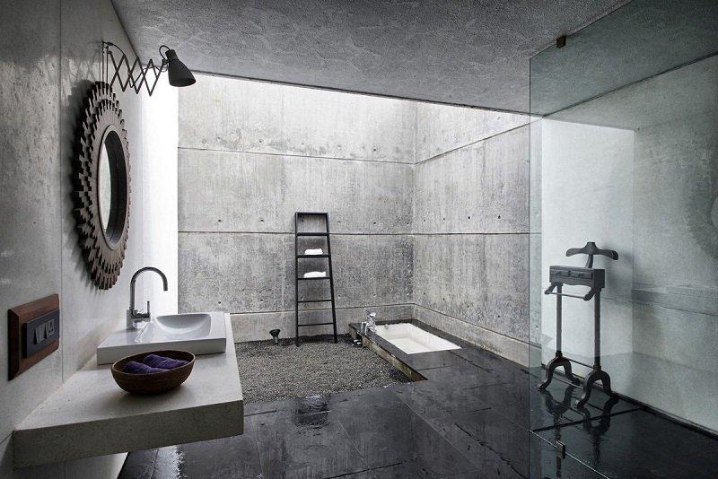 salle de bains moderne industrielle