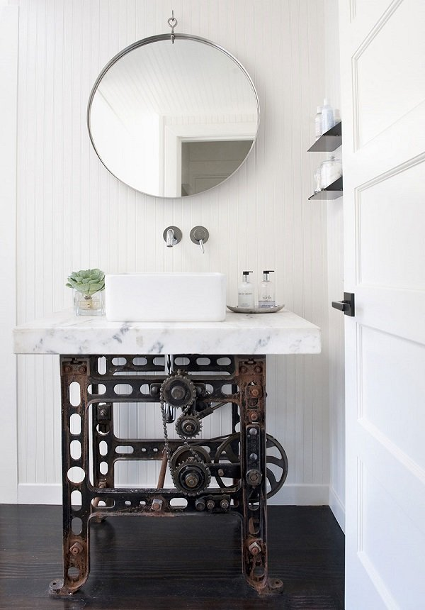 meuble salle de bains style industriel