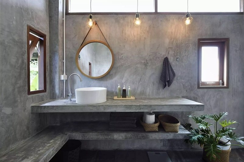 salle de bain au design industriel