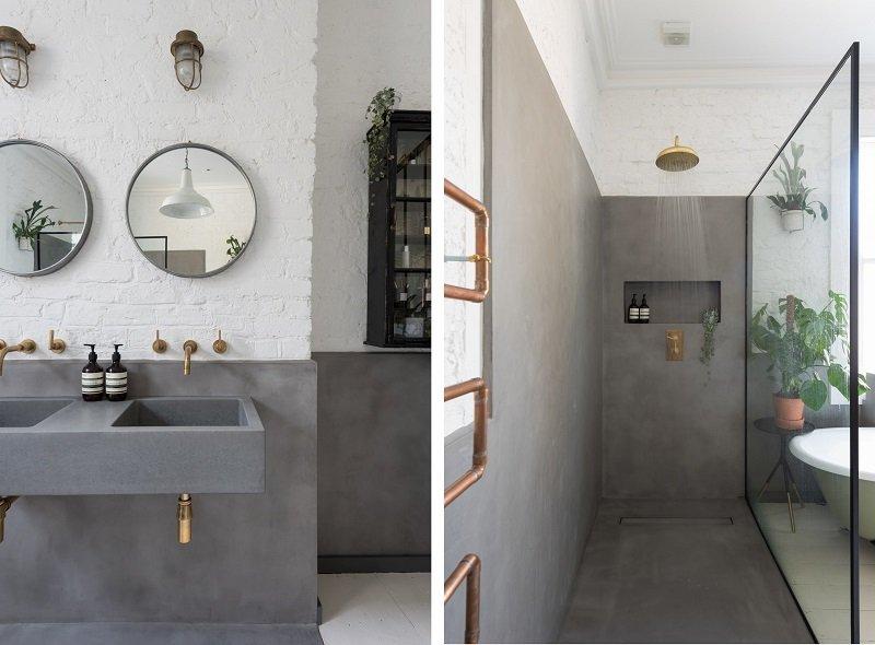 exemple salle de bains industrielle