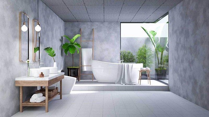 idées salle de bain industrielle