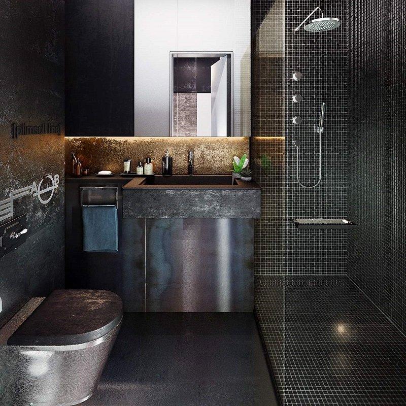 look industriel salle de bains