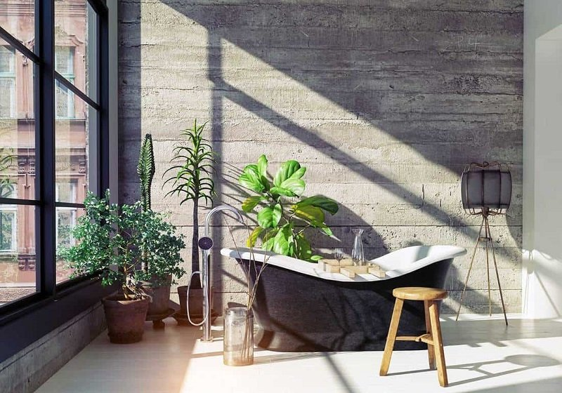 salle de bains de style industriel