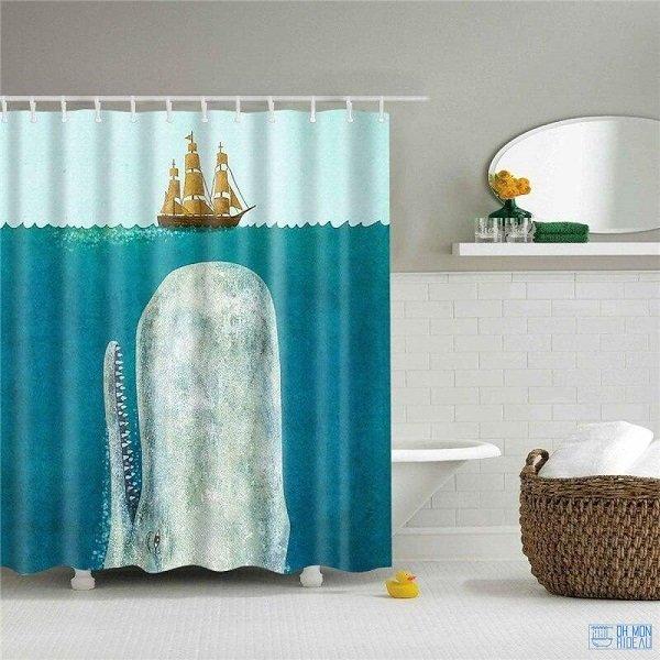 rideau de douche unique
